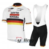 2017 Lotto Cycling Jersey And Bib Shorts Kit Red And White