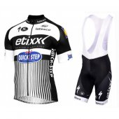 2016 Etixx Quick Step Cycling Jersey And Bib Shorts Kit White And Black