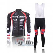 2012 Cube Long Sleeve Cycling Jersey And Bib Pants Kits Red And