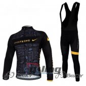 2012 LiveStrong Long Sleeve Cycling Jersey And Bib Pants Kits Bl