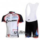 2011 Cube Cycling Jersey And Bib Shorts Kit White And Black