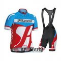 2014 Specialized Cycling Jersey And Bib Shorts Kit Blue And Red