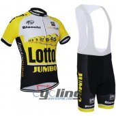 2015 Lotto Soudal Cycling Jersey And Bib Shorts Kit White And Ye