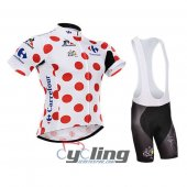 2015 Tour De France Cycling Jersey And Bib Shorts Kit White And