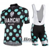 2016 Bianchi Cycling Jersey And Bib Shorts Kit Black And Green