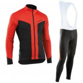 2017 Northwave Long Sleeve Cycling Jersey and Bib Pants Kit red black