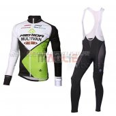Multivan Merida Cycling Jersey Kit Long Sleeve 2014 green and white