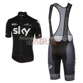Sky Cycling Jersey Kit Short Sleeve 2017 black