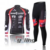 2012 Cube Long Sleeve Cycling Jersey And Bib Pants Kits Red And Black