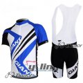 2012 Giant Cycling Jersey And Bib Shorts Kit White And Blue