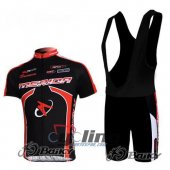 2012 Merida Cycling Jersey And Bib Shorts Kit Black And Red