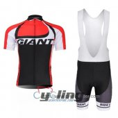 2014 Giant Cycling Jersey And Bib Shorts Kit Black And Red