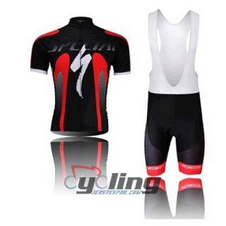 2014 Specialized Cycling Jersey And Bib Shorts Kit Black And Red