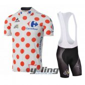 2016 Tour De France Cycling Jersey And Bib Shorts Kit Red And Wh