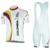 2017 Colombia Cycling Jersey and Bib Shorts Kit black