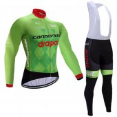 2017 Conondale Drapac Long Sleeve Cycling Jersey and Bib Pants Kit green