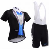 2017 Sobycle Cycling Jersey and Bib Shorts Kit black and blue