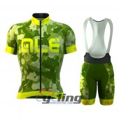 2016 ALE Cycling Jersey And Bib Shorts Kit Green And Yellow