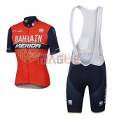 Bahrain Merida Cycling Jersey Kit Short Sleeve 2017 red