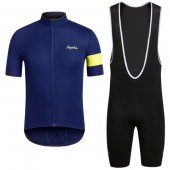 2016 Rapha Cycling Jersey And Bib Shorts Kit Blue And Black