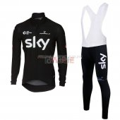 Sky Cycling Jersey Kit Long Sleeve 2017 black