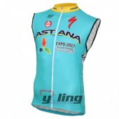 Astana Wind Vest 2016 Blue And Yellow