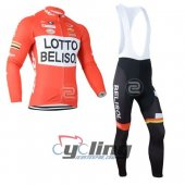 2015 Lotto Soudal Long Sleeve Cycling Jersey And Bib Pants Kits