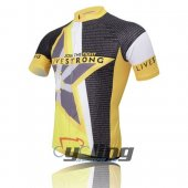 2011 LiveStrong Cycling Jersey And Bib Shorts Kit Gray And Yello
