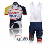 2013 Lotto Soudal Cycling Jersey And Bib Shorts Kit White And Bl