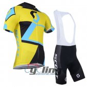 2014 Scott Cycling Jersey And Bib Shorts Kit Black And Yellow