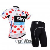 2015 Tour De France Cycling Jersey And Bib Shorts Kit lider Sky