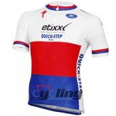 2016 Etixx Quick step Cycling Jersey And Bib Shorts Kit White And Red