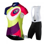 2016 Women Assos Cycling Jersey And Bib Shorts Kit Green And Red