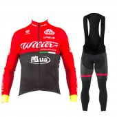 2017 Wilier Long Sleeve Cycling Jersey and Bib Pants Kit red