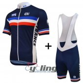 2016 ALE Cycling Jersey And Bib Shorts Kit Blue And White