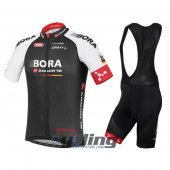 2016 Bora Argon Cycling Jersey and Bib Shorts Kit Black Red
