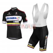 Colombia Cycling Jersey Kit Short Sleeve 2014 black