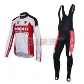 Ducati Cycling Jersey Kit Long Sleeve 2016 white and red