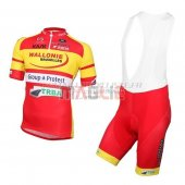 Wallonie Bruxelles Cycling Jersey Kit Short Sleeve 2016 yellow and red