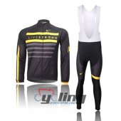 2013 LiveStrong Long Sleeve Cycling Jersey And Bib Pants Kits Bl