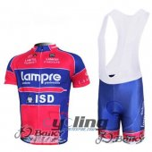 2012 Lampre Cycling Jersey And Bib Shorts Kit Blue And Red