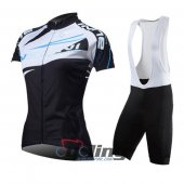 2014 Women Nalini Cycling Jersey And Bib Shorts Kit White And Bl