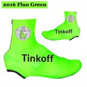 2016 Saxo Bank Tinkoff Cycling Shoe Covers green (2)
