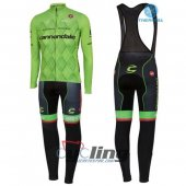 2016 Cannondale Garmin Long Sleeve Cycling Jersey And Bib Pants Kit Black And Green