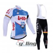 2016 Lotto Long Sleeve Cycling Jersey And Bib Pants Kit White An