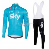 Sky Cycling Jersey Kit Long Sleeve 2017 blue