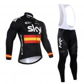 2016 Sky Long Sleeve Cycling Jersey And Bib Pants Kit Black And Yellow