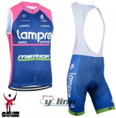 Lampre Wind Vest Blue And Pink 2015