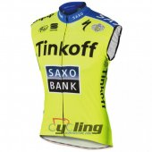 SaxoBank Wind Vest Yellow And Blue 2015