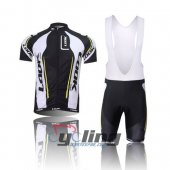 2012 Look Cycling Jersey And Bib Shorts Kit Black And White